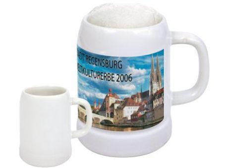 Bierkrug als Werbemittel mit logo versehen