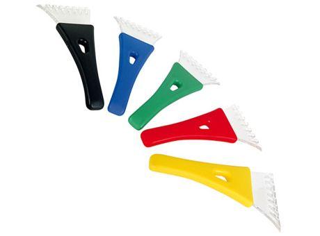 Eiskratzer in rot, blau, gelb usw. als Werbegeschenk